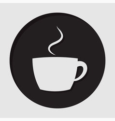 information icon - cup with smoke vector image