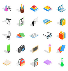 Information icons set isometric style vector