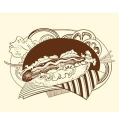 It is of hot-dog vector image
