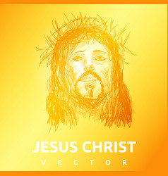 light jesus christ sun background vector image