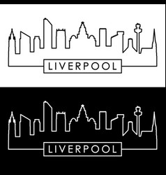 liverpool skyline linear style editable file vector image