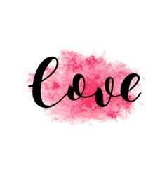 Love brush lettering vector