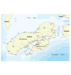 map indonesian island ambon vector image