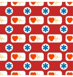 Medical and healthy conceptual seamless pattern vector image