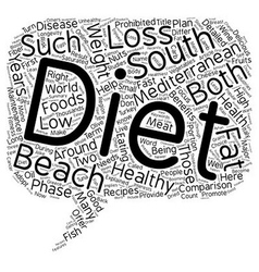 Mediterranean Diet and the South Beach Diet A vector image