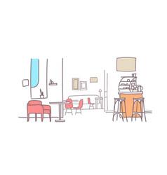 modern family cafe interior empty restaurant room vector image