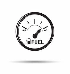 Monochrome fuel gauge icon vector