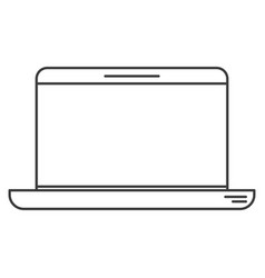 monochrome silhouette of laptop computer vector image