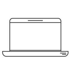 Monochrome silhouette of laptop computer vector