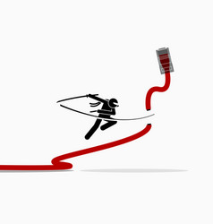 ninja cuts ethernet lan network cable artwork vector image