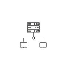 Photo cloud sync icon vector