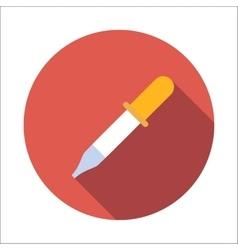 Pipette flat icon vector
