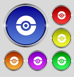 Pokeball icon sign Round symbol on bright vector