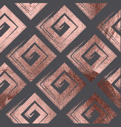 rose gold geometric seamless pattern background vector image