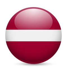 Round glossy icon of latvia vector