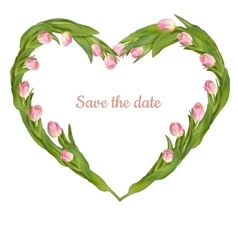 Save date card with tulip eps 10 vector