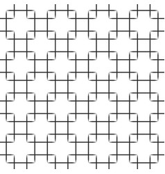 seamless black squares pattern on white background vector image