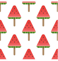 seamless watermelon pattern background vector image