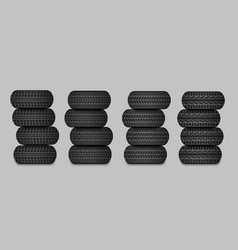 sets car tires vector image