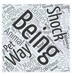 Shock collar Word Cloud Concept vector
