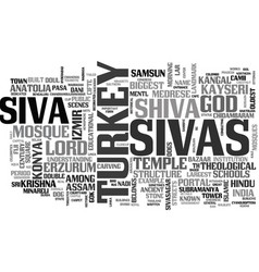 Sivas word cloud concept vector