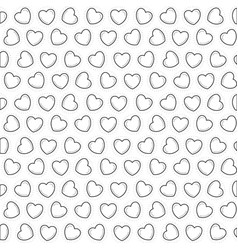 Sketch silhouette pattern hearts shape vector