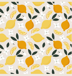summer seamless pattern whole and cut juicy vector image