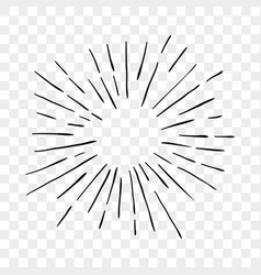 Sun burst sunshine rays lines icon vector