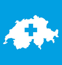 switzerland map icon white vector image