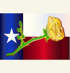 Texas yellow rose vector