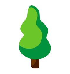 Tree icon logo design pine silhouette icon flat vector