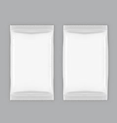 Two white plastic packing slim and inflated vector