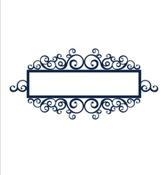 Vintage frame scroll vector