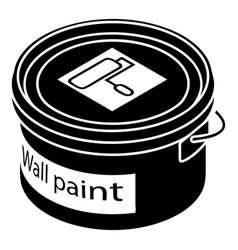 Wall paint bucket icon simple style vector