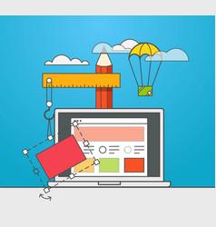Web site constructor web design concept vector