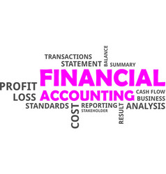 Word cloud - financial accounting vector