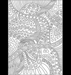 coloring page with scribbles plants pattern vector image vector image