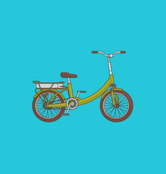 detailed bike concept vector image vector image