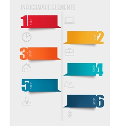 Info graphics banners with numbers and letters vector image vector image