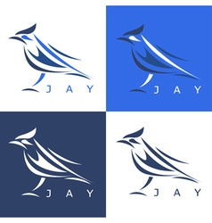 Jay Design Template Set vector image vector image