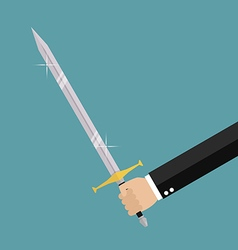 Man holding sword vector image