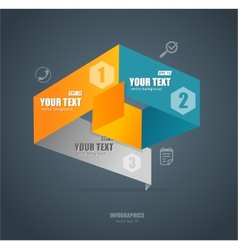 Modern paper infographics options banner vector image vector image