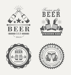 retro or old beer badges or signs vector image