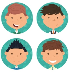 School boys avatar collection vector image