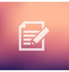 Taking Notes in flat style icon vector image