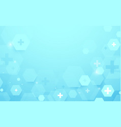 abstract geometric hexagons shape medicine and vector image vector image