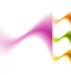 color waves vector image vector image