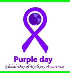 epilepsy purple day vector image vector image