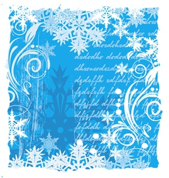 grunge christmas background vector image vector image