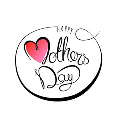 happy mothers day lettering banner vector image vector image